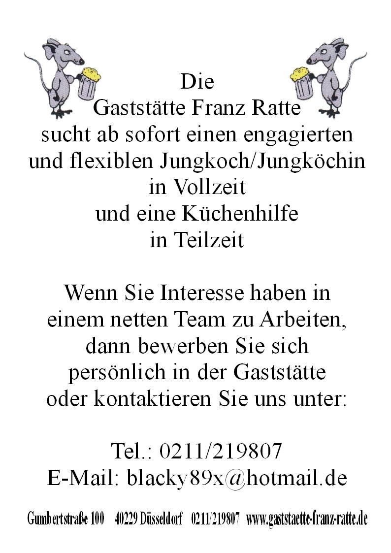 Gaststatte Franz Ratte Stellenangebote